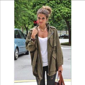 Zara Olive Green Military Jacket